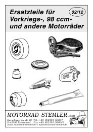 Vorkriegs-, 98 ccm - Ersatzteile für deutsche Motorrad-Oldtimer