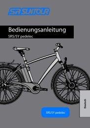 Bedienungsanleitung - SR SUNTOUR Cycling