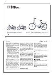 Bedienungsanleitung ergo_bike pedelec classic - Daum Electronic