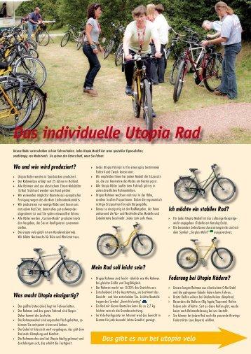 Das individuelle Utopia Rad - Utopia velo gmbh