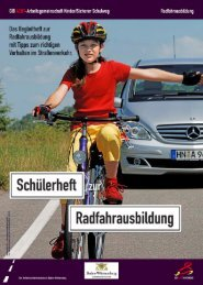 H... n U h - Radfahrausbildung - Gib acht im Verkehr