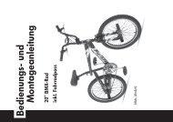 Bedienungsanleitung BMX-Rad - Prophete