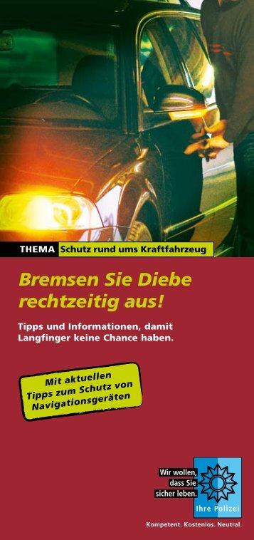 Bremsen Sie Diebe rechtzeitig aus! - Polizeiliche Kriminalprävention ...
