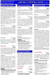 Programmübersicht 2011 Deutschland