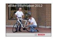 Bosch eBike-System 2012 - the Go Pedelec!