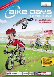 Offizielles Event-Magazin 8. – 10. Mai 2009 in Solothurn - Bike Days