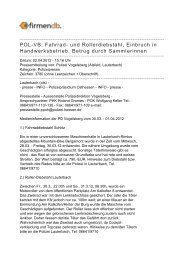 POL-VB: Fahrrad- und Rollerdiebstahl, Einbruch in ... - Firmendb