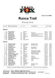 Runca Trail - ALGE-TIMING Schweiz