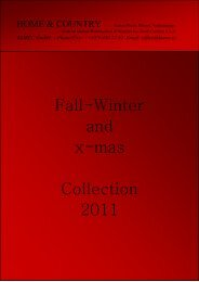 Fall-Winter and x-mas Collection 2011 - Korec Home & Country