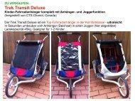 ZU VERKAUFEN... Trek Transit Deluxe Kinder-Fahrradanhänger ...