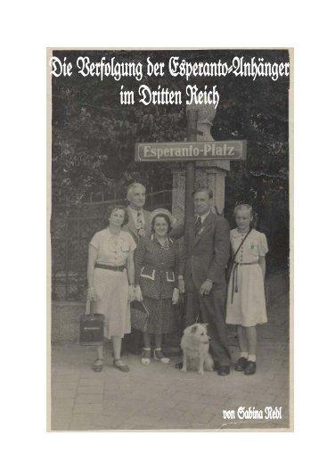 Verfolgung der Esperanto-Anhänger im Dritten Reich