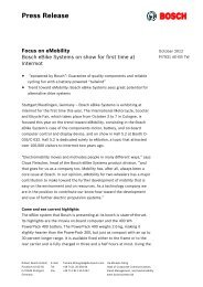 Press Release - Bosch
