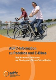 ADFC-Information zu Pedelecs und E-Bikes Was ... - Innovative Bikes