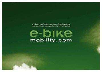 umweltfreundliche mobilitätskonzepte für ... - E-Bike Mobility