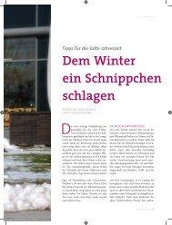 Tipps für die kalte Jahreszeit Dem Winter ein ... - eBike City
