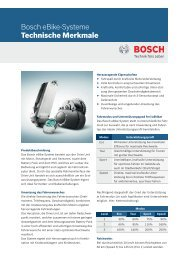 Bosch eBike-Systeme Technische Merkmale