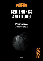 BEDIENUNGS ANLEITUNG - Elektrokola KTM