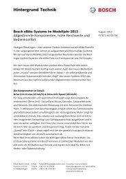 Hintergrund Technik Bosch eBike Systems im Modelljahr 2013
