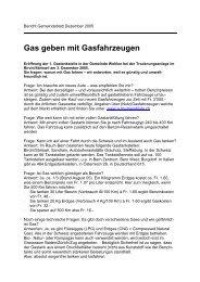 Gas geben mit Gasfahrzeugen - MobiLEM