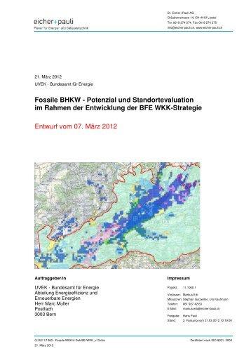 Fossile BHKW - Potenzial und Standortevaluation im Rahmen der ...