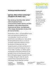 Hintergrundinformation eprimo: Beim Preis-Leistungs- Vergleich die ...