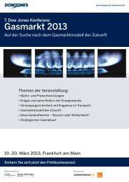 Gasmarkt 2013 - Dow Jones Akademie