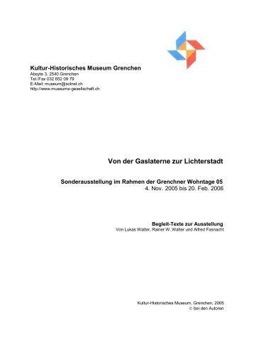 Von der Gaslaterne zur Lichterstadt - Kultur-Historisches Museum ...
