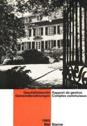 Geschäftsbericht l Rapport de gestion - Stadt Biel