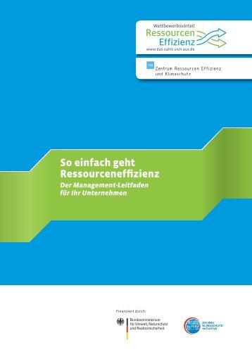 So einfach geht Ressourceneffizienz - CSR in Deutschland