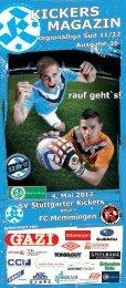 16 Kickers-Magazin FC Memmingen (pdf mit 21 - SV Stuttgarter ...