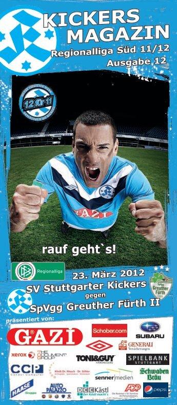 12 Kickers-Magazin SpVgg Greuther Fürth II (pdf - SV Stuttgarter ...