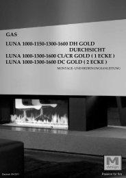 luna 1000-1300-1600 dc gold - M-Design