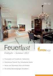 Frühjahr – Sommer 2012 - OfenHepp, Oliver Hepp, Solingen