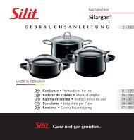 Gebrauchsanleitung Silargan Kochgeschirr - Silit
