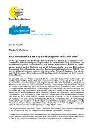 Pressemitteilung CO2-Lenkungsabgabe - Energie Service Biel/Bienne