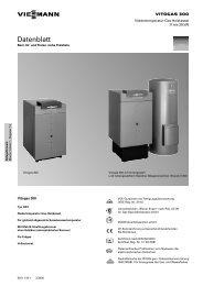 Datenblatt - Viessmann