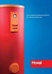 Hoval Beistell-Wassererwärmer ab 160 bis 2100 Liter