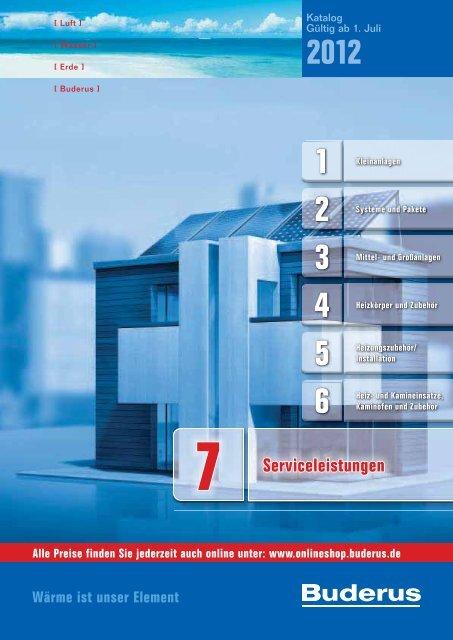 Buderus Serviceleistungen Preisliste und Rabattlisten Katalog Teil 7 ...
