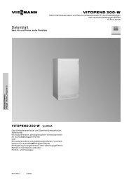 Vitopend 200-W Datenblatt