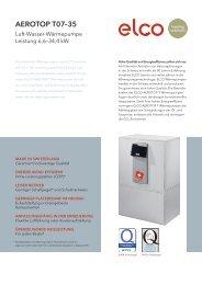 ELCO – AEROTOP T 07–35 – Luft-Wasser-Wärmepumpe – Leistung ...