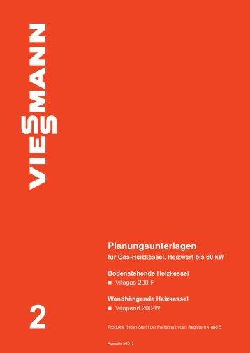 Planungsunterlagen für Gas-Heizkessel, Heizwert bis ... - Viessmann