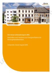 des dena-Gebäudereports - Zukunft Haus