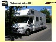 Wohnmobil Adria 660 - ABEC Intercon GmbH