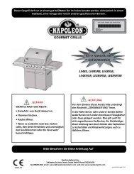 Manual LE485RSB Gasgrill - Grillwerkstatt