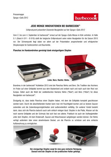 trends innovationen tipps tricks rezepte barbecook. Black Bedroom Furniture Sets. Home Design Ideas