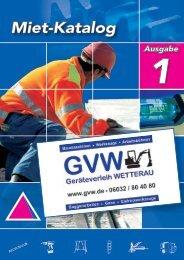 1 Miet-Katalog - Geräteverleih Wetterau