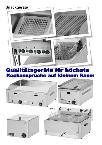 Snackgeräte Bain - Marie - Gastro Concept Lübeck