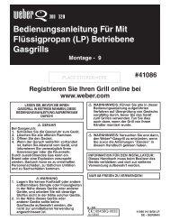 Bedienungsanleitung Für Mit Flüssigpropan (LP) Betriebene Gasgrills