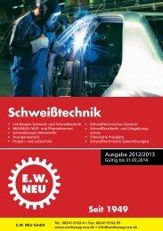 Schweißtechnik 2012/2013 - EW NEU GmbH