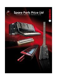 HOHNER Spare Parts Price Lists